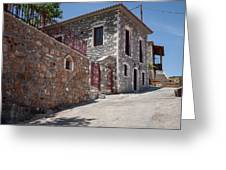 Village In Greece Greeting Card