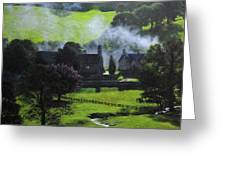 Village In North Wales Greeting Card