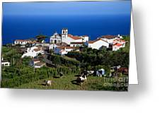 Village In The Azores Greeting Card