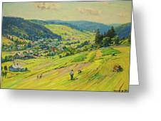 Village In The Foothills Greeting Card