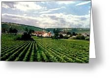 Village In The Vineyards Of France Greeting Card