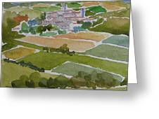 Village In Tuscany Greeting Card