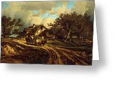 Village Landscape 1844 Greeting Card
