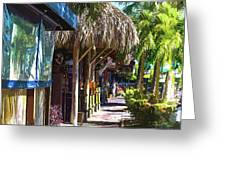 Village Life II - Siesta Key Greeting Card