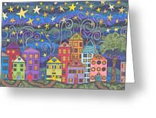 Village Lights Greeting Card