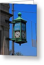 Village Of Elmore Clock-vertical Greeting Card
