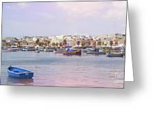 Village Of Fishermen Greeting Card