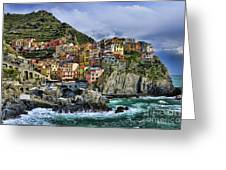 Village Of Manarola - Cinque Terre - Italy Greeting Card