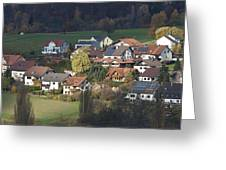 Village Of Residential Homes In Germany Greeting Card by Greg Dale