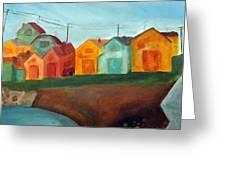 Village On The Coast Greeting Card
