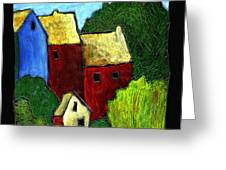 Village Scene Greeting Card