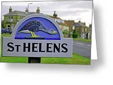 Village Sign - St Helens Greeting Card