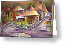 Village Square Greeting Card