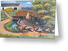 Village Stables Greeting Card