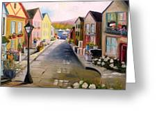 Village Street Greeting Card
