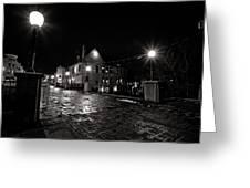 Village Walk Greeting Card by CJ Schmit