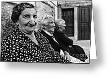 Village Women In Alberca Spain Greeting Card