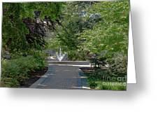 Villanova Fountain Greeting Card