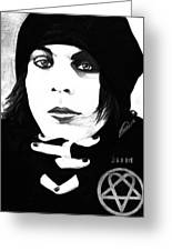 Ville Valo Portrait Greeting Card