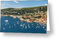 Villefranche-sur-mer And Cap De Nice On French Riviera Greeting Card