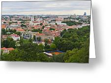Vilnius Panorama From The Hill Of Three Crosses Greeting Card