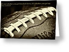 Vince Lombardi Quote Greeting Card