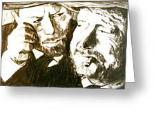 Vincent And Douglas Greeting Card