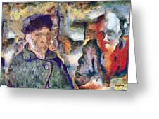 Vincent And Lalo-take 1 Greeting Card