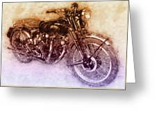 Vincent Black Shadow 2 - Standard Motorcycle - 1948 - Motorcycle Poster - Automotive Art Greeting Card