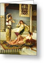 Vincent Stiepevich In The Harem Greeting Card