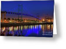 Vincent Thomas Bridge Greeting Card by Eddie Yerkish