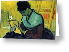 Vincent Van Gogh  A Novel Reader Greeting Card