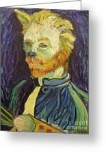 Vincent Van Gogh Cat    Greeting Card