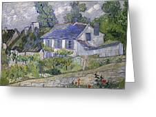 Vincent Van Gogh, Houses At Auvers Greeting Card