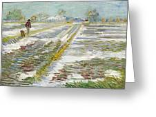 Vincent Van Gogh, Landscape With Snow Greeting Card