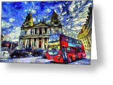 Vincent Van Gogh London Greeting Card