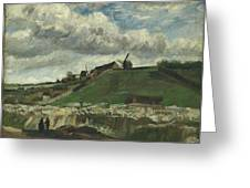 Vincent Van Gogh, The Hill Of Montmartre With Stone Quarry, Paris Greeting Card