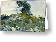 Vincent Van Gogh, The Rocks Greeting Card