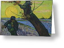 Vincent Van Gogh, The Sower Greeting Card