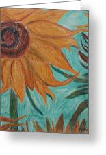 Vincent's Sunflower Greeting Card