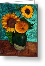 Vincent's Sunflowers 2 Greeting Card