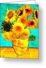 Vincent's Sunflowers 4 Greeting Card
