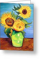 Vincent's Sunflowers Greeting Card