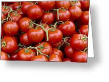 Vine Ripe Tomatos Greeting Card by John Trax
