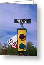 Vine St Greeting Card