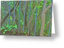Vines Abstract IIi Greeting Card
