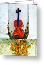 Vines And Violin Greeting Card