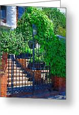 Vines Over Gate Greeting Card