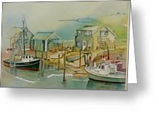 Vineyard Boats Greeting Card