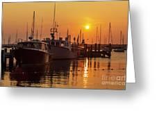 Vineyard Haven Harbor Sunrise II Greeting Card